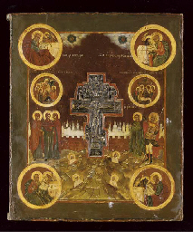 THE CRUCIFIXION WITH THE EVANGELISTS