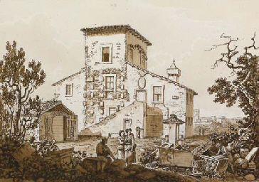 Ruderi presso l'antica villa