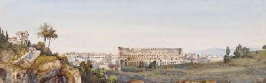 Veduta di Roma con il Colosseo