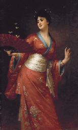 Donna con chimono