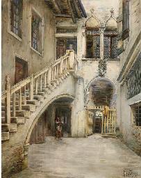 Cortile a Venezia, 1898.