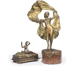 AN AUSTRIAN COLD-PAINTED BRONZE MODEL OF AN ORIENTAL DANCER ...