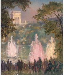 Fountain at Pernes-Les-Eaux, P