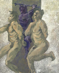 Two nudes and a mythological c