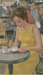 Marie-Lize à la robe jaune, te