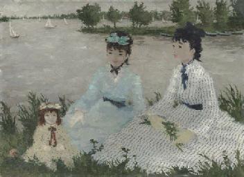 Femmes et enfant au bord de la
