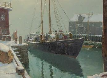Fishermen at the Dock