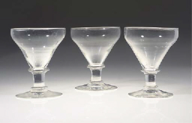SIX CUT GLASS ROEMERS AND CUT-