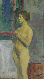 Standing Nude in an Interior