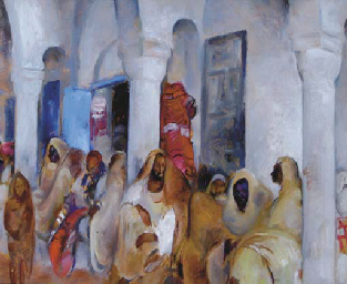 Gathering in the Courtyard