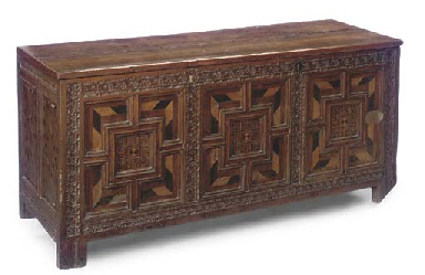 A LARGE ENGLISH OAK AND MARQUE