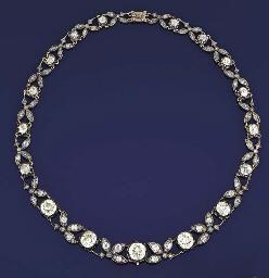 A LATE 19TH CENTURY DIAMOND NE