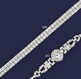 A diamond wristwatch, by Carti