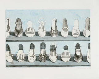 Shoe Rows, from Recent Etchings I