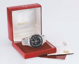 Omega A rare stainless steel chronograph wristwatch with dat...