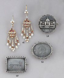 A collection of twenty one late Victorian silver brooches of...