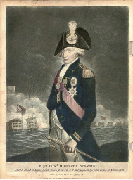 A COLOURED PRINT OF NELSON, CI