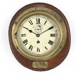 A BULKHEAD CLOCK BELIEVED TO H