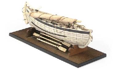 A BONE MODEL OF A WHALER