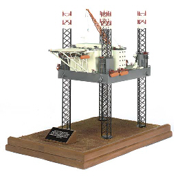 A BUILDER'S MODEL OF A JACK-UP