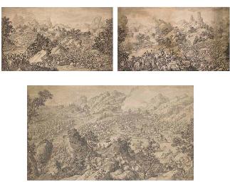 Three engravings recording the