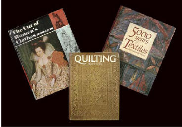 A LARGE COLLECTION OF MISCELLANEOUS COSTUME & TEXTILE BOOKS ...