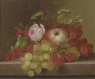 Still Life with Peach, Grapes