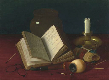 Still Life with a Pipe, Candle