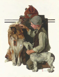 Boy with Two Dogs (Raleigh Roc