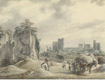 Haymaking near Pevensey Castle, Sussex