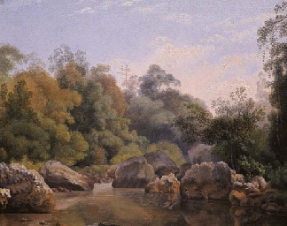 The river Citarum, Priangan (W