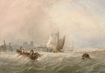 Fishermen hauling in their net