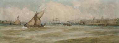 Greenwich Reach at full tide