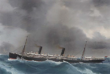 R.M.S. Ophir in heavy weather