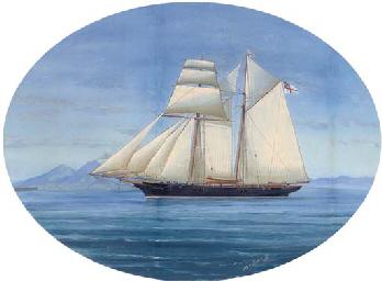 A topsail schooner of the Roya