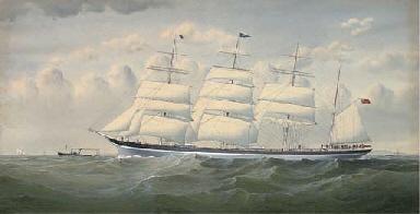 The four-masted barque Sindia