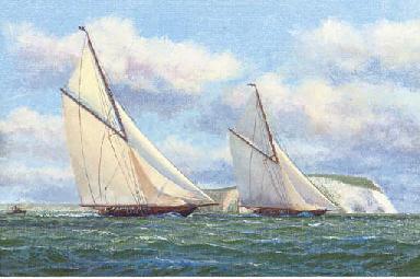 Britannia and her rival, neck