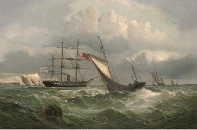 In the Channel off Dover