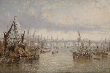 Hay barges on the Thames, St.