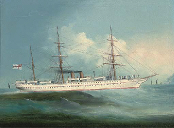 The Victorian troopship H.M.S.