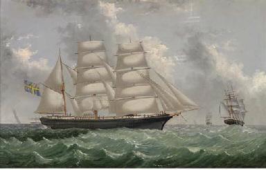 A Swedish three-masted barque