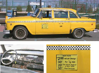 The last Checker Cab to be in active service in New York City