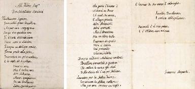 LEOPARDI, Giacomo. Manoscritto