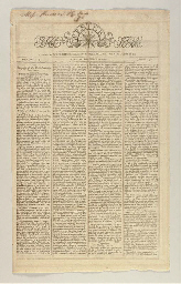 WASHINGTON, George, Death of]. The announcement of the death of Washington...