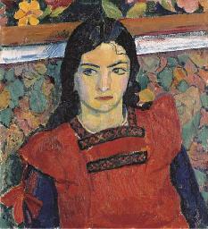 Greti mit roter Schürze, 1913