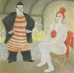 Clown und Artistin, 1933