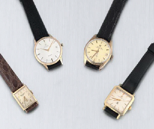 A Group of Four Gold Wristwatches. Comprising: A 14ct Gold Automatic Centre...