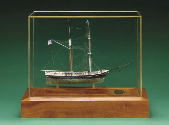 a exhibition standard model of the merchant brigantine <i>newsboy</i>