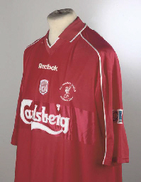 A RED LIVERPOOL SHORT-SLEEVED