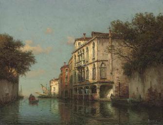 A gondolier on a Venetian back